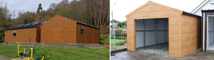 Wood Insulated Panels : Wood effect insulated panels hanson steel buildings