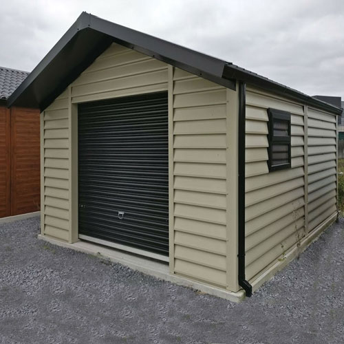 steel overhang garage