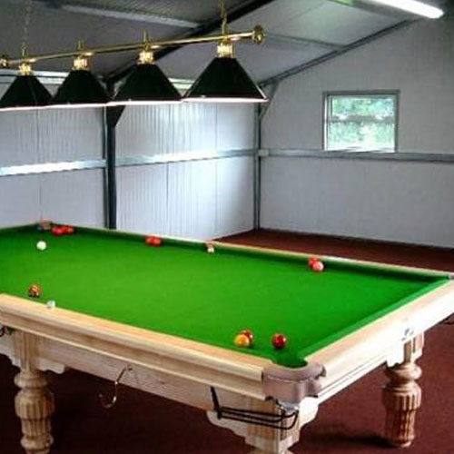 steel snooker room