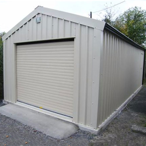 vertical clad garage