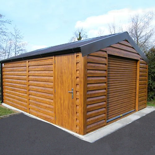 woodgrain garage