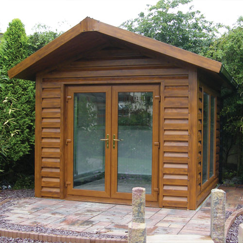 woodgrain garden room