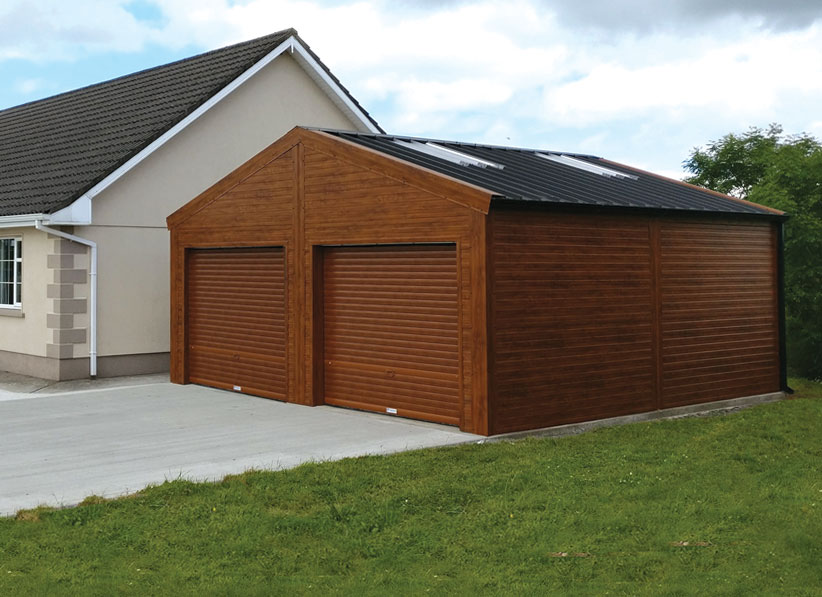 insulated double garage